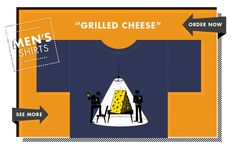 Men's Shirts – #GrilledCheese....one of our TOP Sellers! HALF OFF! Use promo code #WINTER at checkout!
