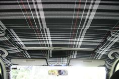 Ok we decided to forgo the headline storage so we can upholster the headliner with the plaid fabric. We want the front of the van to have full height. Truck Paint Jobs, Honda Civic 2012, Fix My Car, Custom Car Interior, Golf Mk2, Marvel Jokes, Defender 110, Car Mods, Vintage Vans