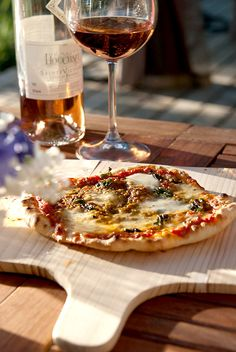 wine & pizza margherita | by goboroot