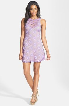 One Rad Girl 'Regina' Floral Lace Skater Dress available at #Nordstrom Great for Pref Night!