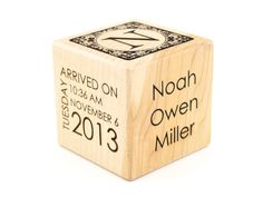 Personalized baby birth announcement wood cube new baby keepsake new baby gift birth block personalized baby block personalized baby item newborn keepsake baby girl baby boy negle