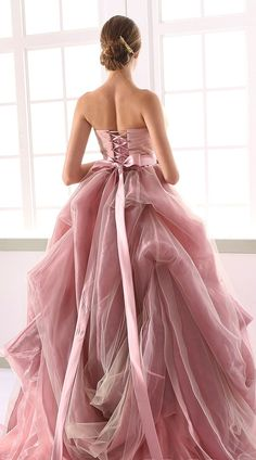 lovely pink gown
