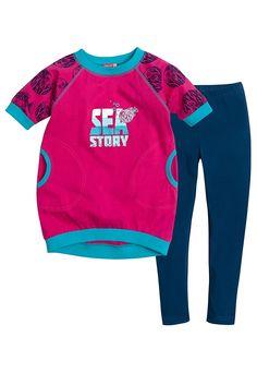 Комплект для девочек, цвет: синий, розовый, купить в интернет-магазине Pelican-style.ru