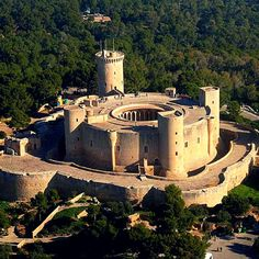 Bellver Castle, Palma de Mallorca, Spain An impressive Gothic style #castle built in the 14th century for King James II of Majorca, it is now one of the main tourist attractions of the island