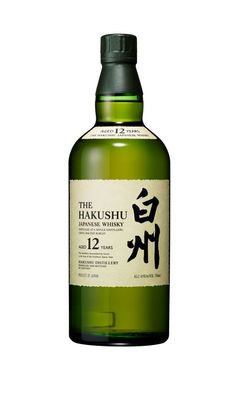"""The Hakushu Japanese Whisky 12 Years Old    The Japanese whisky magnates at Suntory have released their third product to the American market: The Hakushu, a whisky distilled and aged """"at the foot of the Southern Japan Alps."""" Available in ages from 10 to 25 years, only the 12 year old has made it into even remotely wide availability."""