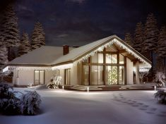 Projekt domu Lemko Termo 187,63 m2 - koszt budowy - EXTRADOM Village House Design, Village Houses, Beautiful House Plans, Beautiful Homes, Home Technology, Home Fashion, Planer, Bungalow, My House