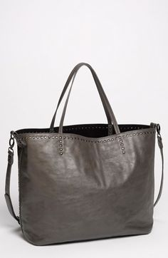 Studded Faux Leather Tote $29