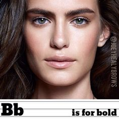 #Alphabrows Day 2: B is for #BOLD! Tip: fill in your brows one shade darker to amp up the bold factor. #eyebrows #instamakeup #joeyhealy #brows #beauty