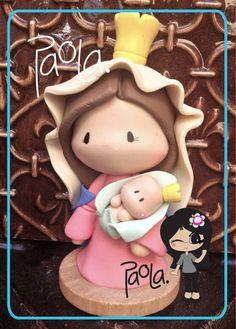 Items similar to Mother of God - Virgen de Chiquinquira - Virgen de la Chinita First Communion/ Baptism Favors on Etsy Xmas Crafts, Diy And Crafts, Pasta Fimo, Communion, Christmas Time, Christmas Ornaments, Baking Clay, Pasta Flexible, Shopkins