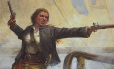 Illustration of Grace O'Malley, Irish Pirate and Queen.  What a woman!  :-)  Love this