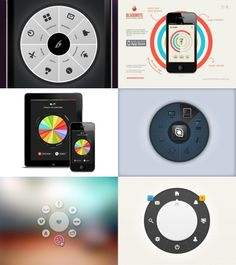 Circular UI elements for apps Interaktives Design, News Web Design, Menu Design, Graphic Design, Creative Design, Design Trends, Application Mobile, Application Design, Mobile Ui Design