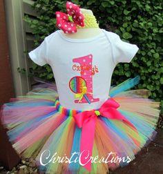 Rainbow Lollipop 1st Birthday  Custom Made by ChristiCreations