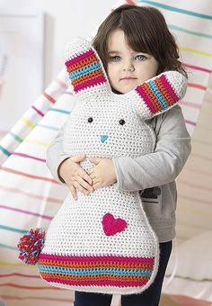 If you know a little person in need of a snuggly crocheted friend, then look no further than Fun Animal Pillows! Inside you'll find instructions for nine great big, whimsical animal buddies, and to say they're cute is a great big understatement! Crochet Pillow, Crochet Baby, Knit Crochet, Cat Amigurumi, Cross Stitch Books, Animal Pillows, Crochet Animals, Baby Knitting, Little Ones