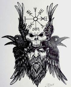 Viking Tattoo Sleeve, Viking Tattoo Symbol, Norse Tattoo, Tattoo Design Drawings, Tattoo Sleeve Designs, Sleeve Tattoos, Viking Symbols, Viking Art, Rosen Tattoos Schulter