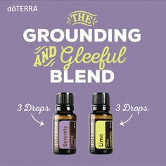 The Grounding and Gleeful Blend This blend smells INCREDIBLE and is the perfect combination to diffuse when guests come over to help settle nerves and encourage conversation.