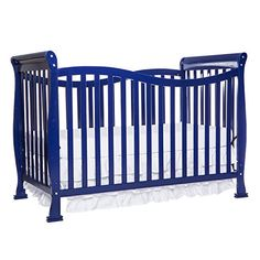 Dream On Me Convertible Crib Violet Baby Bed 44 Pound Capacity Royal Blue Toddler Furniture, Nursery Furniture, Baby Crib Bedding, Baby Cribs, Full Bed Frame, Best Crib, Modern Crib, Convertible Crib, Bebe