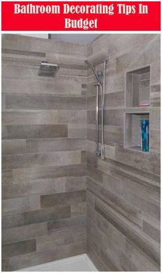 New Grey Wood Tile Shower Vanities 62 Ideas Bathroom Shower Tile, Wood Tile, Elegant Bathroom, Diy Bathroom Remodel, Modern Shower, Grey Wood Tile, Bathrooms Remodel, Bathroom Design, Bathroom Shower Design