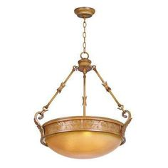 Florentina 3-Light Amandale Bowl Pendant