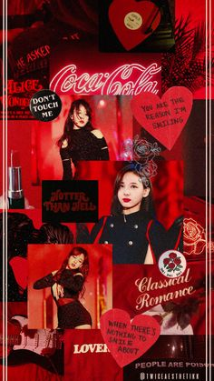 Nayeon in hot red aesthetic Diy Wallpaper, Wallpaper Iphone Disney, Trendy Wallpaper, Special Wallpaper, J Pop, Red Aesthetic, Kpop Aesthetic, Taemin, Cute Pink Background