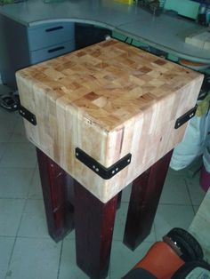BUTCHER BLOCK, home made present for my  brother in law ;)