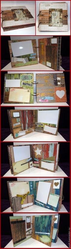 Купить Фотоальбом Happiness - фотоальбом ручной работы, Скрапбукинг, подарок на…