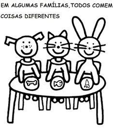 Menina Arteir@: Livro O Livro da Família para colorir