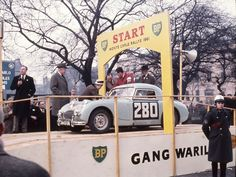 Monte Carlo Rally 1961...Sprite No. 280 ..driven by John Sprinzel / Stuart Turner , on results list finished in 115th place , listed as an A40 .