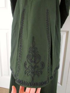Glorious 2 PC Antique Edwardian Pine Green Wool Winter Suit Passementerie C1909 | eBay