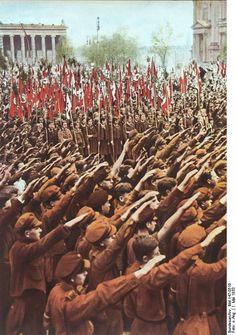 Hitler Youth gathering at Lustgarten, Berlin, Germany, 1 May 1933