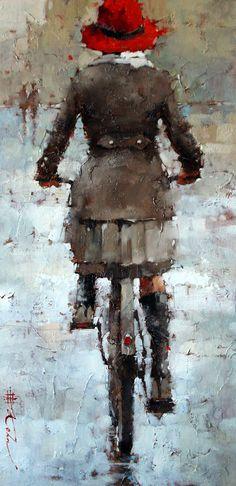 """November Sprinkles, 24"""" x 12"""", Oil by Andre Kohn  http://www.andrekohnfineart.com/"""