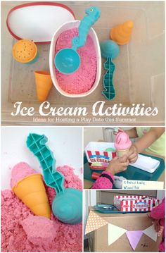 Here's some simple pretend ice cream activities for a fun summer playdate - just add real ice cream for a special treat and you've got yourself a day filled with fun!