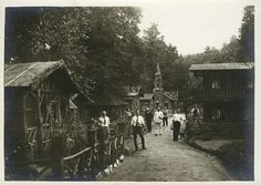 German Internees Pose in a Village that They Had Built Within an Internment Camp in North Carolina, 1917 [1200x851]