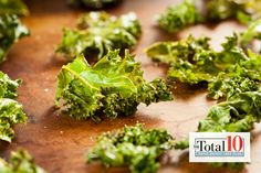 Total 10 Kale Chips: This light snack is a healthy alternative to potato chips, plus it's packed with iron.