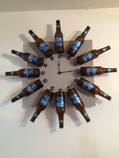 Bud Light Beer Bottle Clock