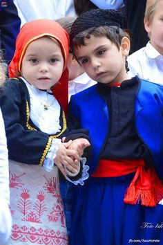 Greek children in costume Kids Around The World, People Around The World, Folk Costume, Costumes, Myconos, Greek Culture, Folk Dance, Thinking Day, Precious Children