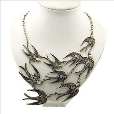 2013 New Swallow necklace statement necklace door mycraftparadise, $9.90