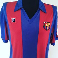 Beaut of a Barcelona Meyba shirt from @cultfootball - get yours in our shop now  DM for best offers #football #footballshirt #footballshirtcollective #laliga #meyba #fcb #fcbarcelona #barcelona #classicfootball #vintagefootball