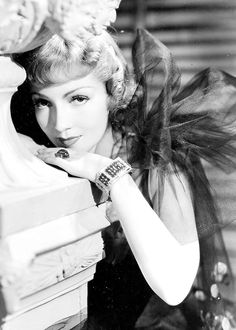 Claudette Colbert in Joseff of Hollywood jewelry  See beautiful pics like this in soon to be released Joseff of Hollywood book...  Pre-order Joseff of Hollywood: Putting the Tinsel in Tinseltown  By Michele Joseff www.joseffofhollywoodbook.com