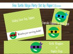 PaperCharm: Free Printable Turtle Ninja Party Set