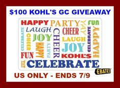 Top Notch Material: $100 Kohl's Gift Card Giveaway