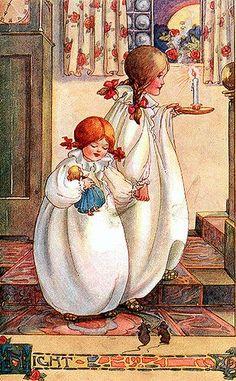 """Night""- Anne Anderson, Scottish illustrator (1874-1930)"