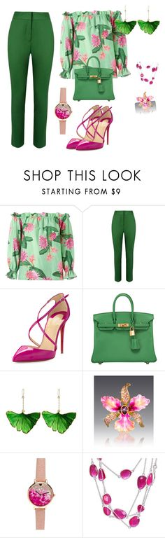 """""""06"""" by caramiamiriam ❤ liked on Polyvore featuring Isolda, Andrea Marques, Christian Louboutin, Hermès, Aurélie Bidermann, Jay Strongwater and NOVICA"""