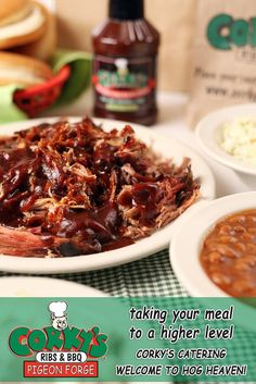 Corky's Ribs and BBQ in Pigeon Forge is perfect for a relaxing night back at your cabin or hotel. Available for bulk delivery or pick-up. Call to order (865) 453-7427.
