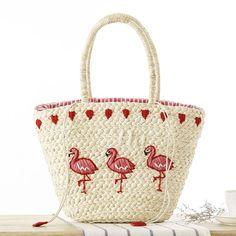 2017 Summer Fashion Women Handbag Handmade Embroidery Animal Pattern Straw Bag Fresh Shoulder Woven Large Capacity Beach Bag