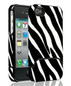 Look at this #zulilyfind! Black Zebra Case for iPhone 4/4s by Cellairis #zulilyfinds