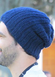 Gorro Azul, crochet