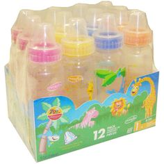 Evenflo Zoo Friends 8-oz Baby Bottle with Anatomic Nipple, Set of 12, BPA-Free: Feeding
