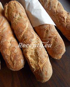 ▷ Domácí bagety - Recepty.eu Yeast Starter, Rustic Bread, Gluten Free Living, Italian Bread, Nut Free, Sugar Free, Food, Naked, Celiac