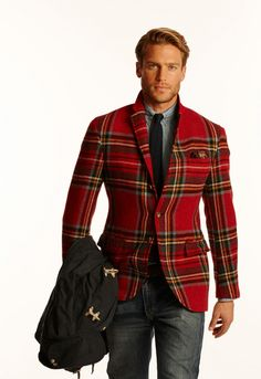 Ralph Lauren Red Tartan Jacket. I doubt my husband would ever wear this......but I can dream