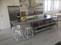 Industrial beach kitchen